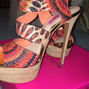 Betsey Johnson 7 1/2 heel so so sexy cute